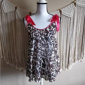 Victoria's Secret Leopard Sheer Lingerie Dress